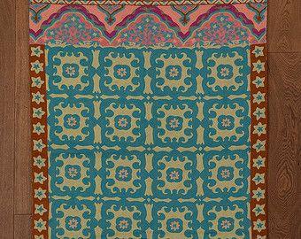 turquoise area rugpink area rug4x6 area rug5x7 area rug