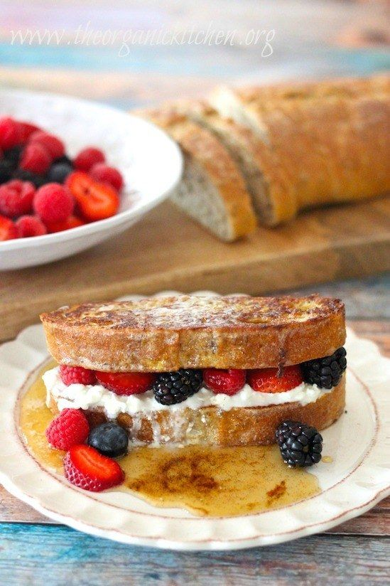 French Toast With Berries.  Between the whole grain bread, cottage cheese, and berries, this decadent breakfast is packed with nutrition.