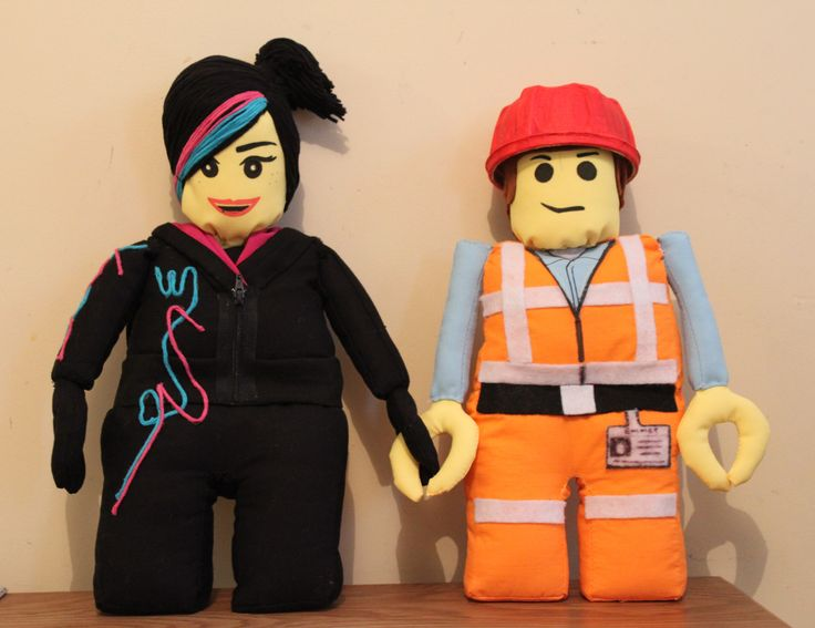 I made Wildstyle and Emmet from the Lego movie.