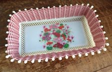 Vintage/Woven/Basket/Tray/Dish/Fruit Bread/Kitsch/1960s 70s/Retro Plastic