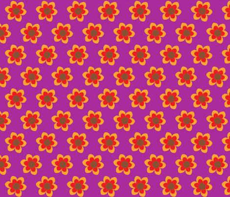 retroflower purple fabric by mofje on Spoonflower - custom fabric