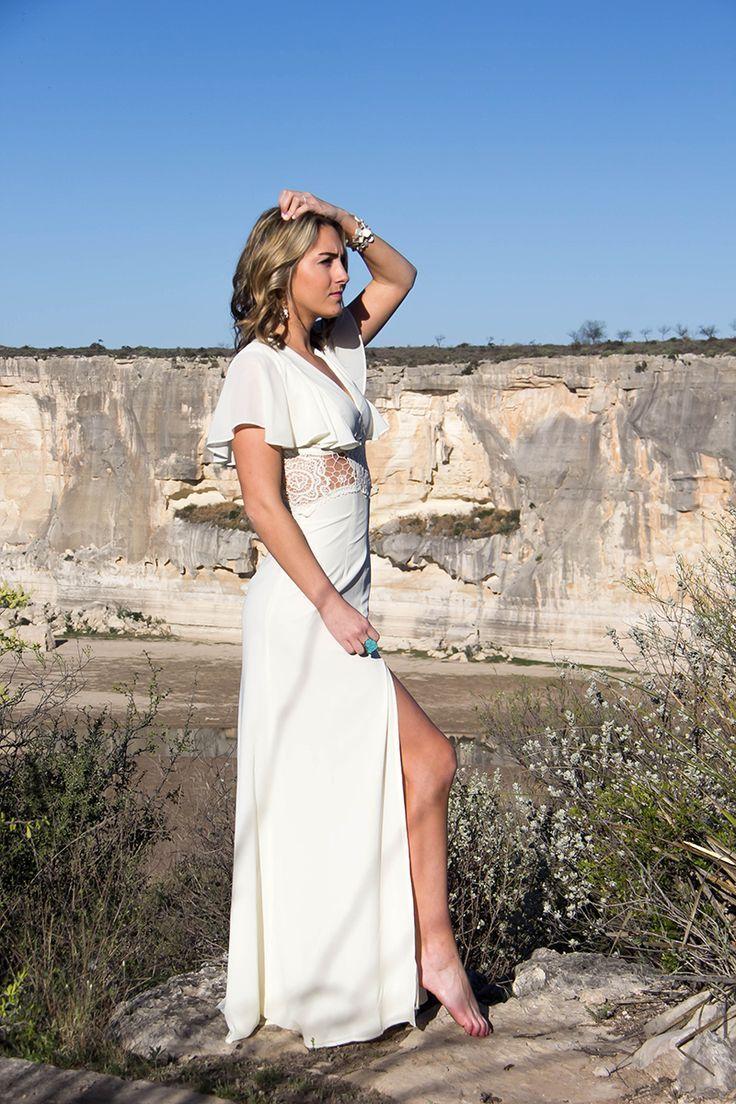One Swainky Couple: West Texas Weekend: Pecos River Overlook | Asos | cream dress | Big Bend