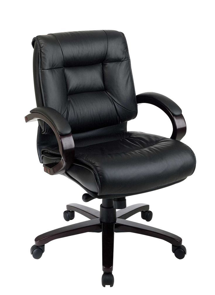 Black Leather Comfortable Office Chair Black Chair Comfortable Leather Office Cozyoffice Office Homeoffice Homedecor Fa Home Office Chair Comfo