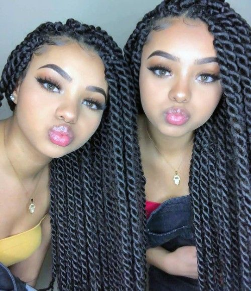 Super Sexy Senegalese Twist Hairstyles for Women
