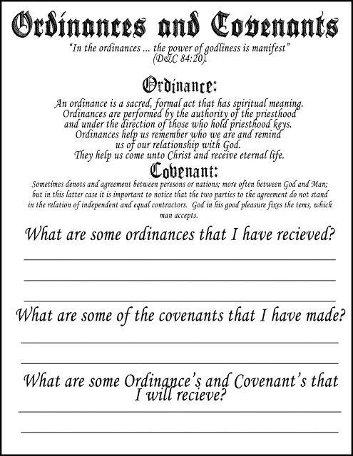 Autumn-Bennett: Ordinances Covenants