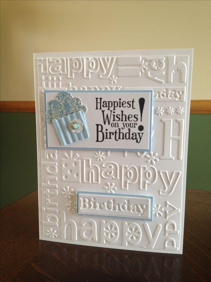 SU Happiest Birthday Wishes, Cupcake Builder punch, Cbug E F, photo only