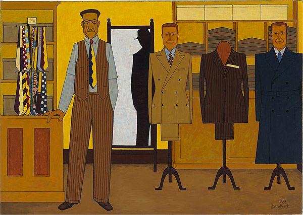 John Brack ~ Men's wear, 1953