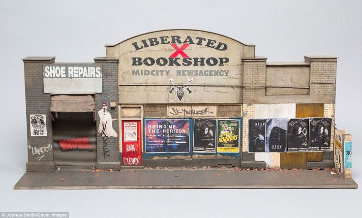 This model is based on the Liberated X Bookshop and Shoe Repairs, which is in Flinders Street, Melbourne
