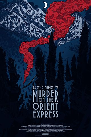 """To celebrate the 40th anniversary of its release we invited New York illustrator Johnny Dombrowski to create this stunning poster for the film adaptation of Agatha Christie's iconic whodunnit """"Murder On The Orient Express"""". In the spirit of this star-studded classic Johnny Dombrowski has cleverly peppered his illustration with a number of clues — plus a red herring or two — detective Hercule Poirot encounters during his investigation. Can you spot them all?"""
