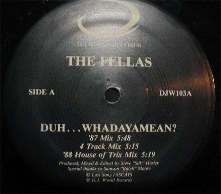 "The Fellas - Duh...Whadaya Mean / Do It Good: compra 12"" su robxrecords.it"
