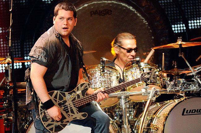 Wolfgang Van Halen and Uncle Alex Van Halen