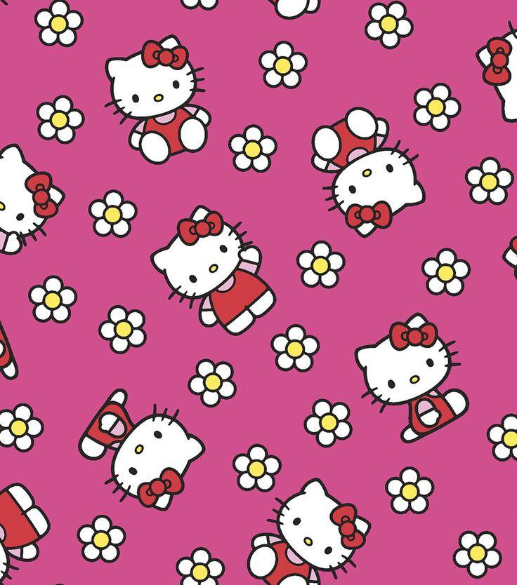 Sanrio Hello Kitty Flower Flannel FabricSanrio Hello Kitty Flower Flannel Fabric,