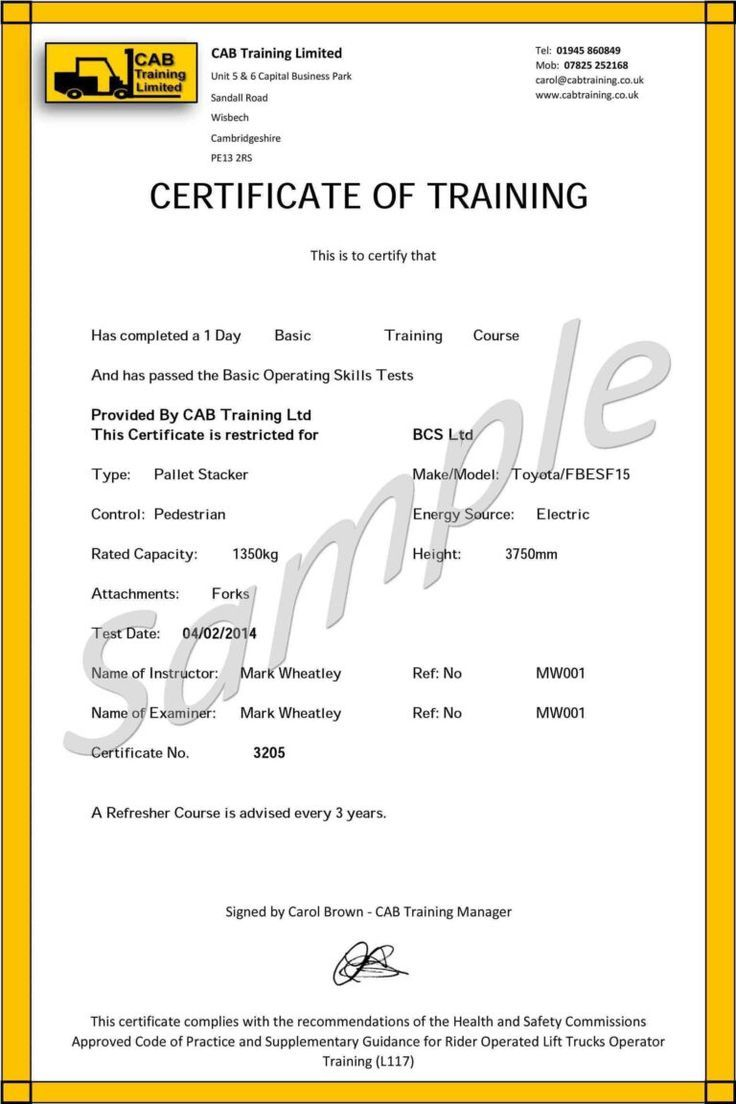 Quality Forklift Certification Card Template In 2021 Certificate Templates Card Templates Free Training Certificate Forklift certification card template free