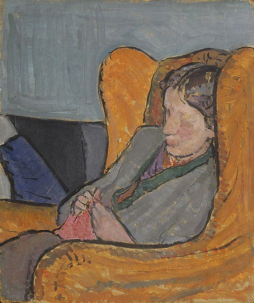 Portrait of Virginia Woolf by her sister Vanessa Bell.