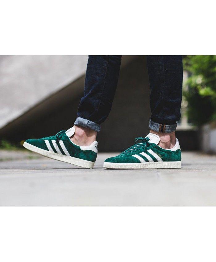 huge selection of ca10d 1f3aa Adidas Gazelle Dark Green Shoes