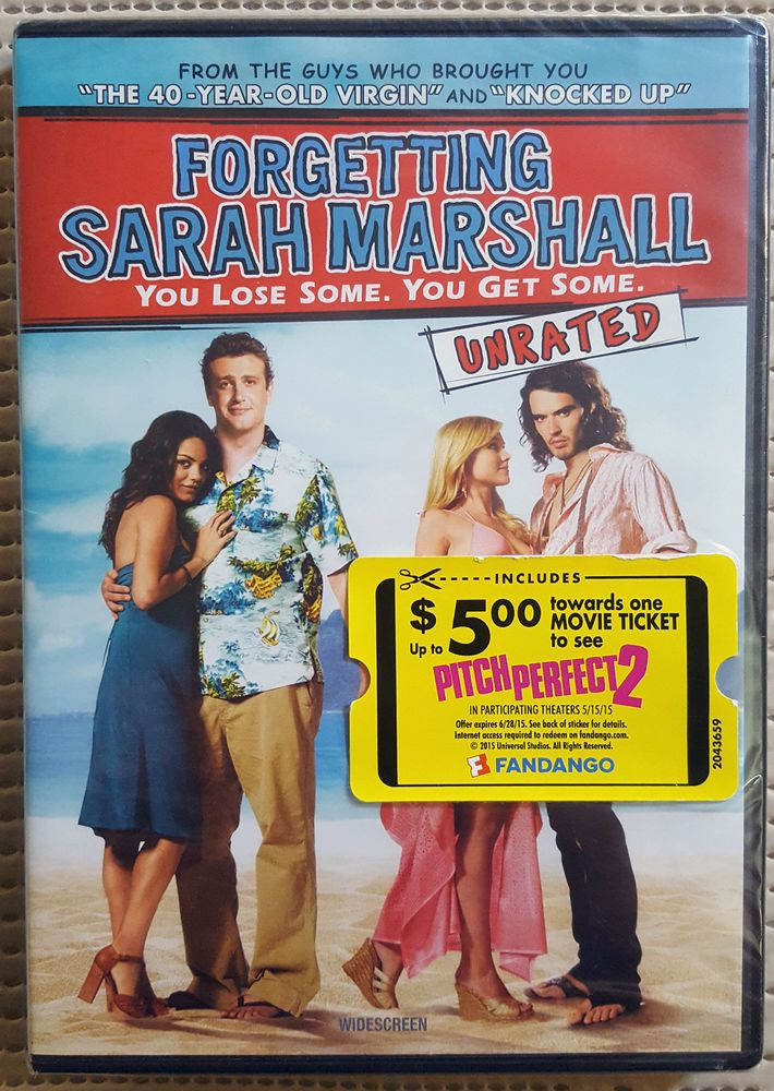 Details About Forgetting Sarah Marshall 2008 Dvd Ws Rated Unrated