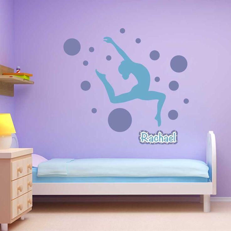 spot gymnastics wall package sticker genius gymnastics bedroomgymnastics quotesbedroom decorwall