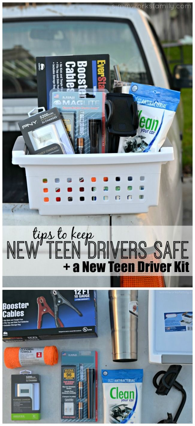 Have a new teen driver or know someone who's starting to drive? Make a new teen driver kit to help keep them safe on the road! AD