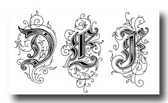 Old English Style Letters - Image 2. This website has lots of great free printables.