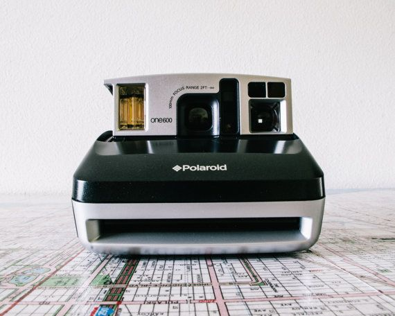 Polaroid One 600 Special Edition w/Case, Clean, 1990s, Instant Camera, Hipster Camera, Handle, Tripod Fitting