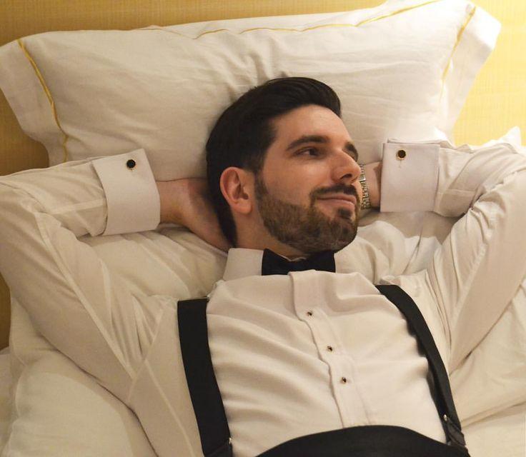 "suitandtiefixation: "" Time to relax. #me #suit #suitandtie #suitandtiefixation #elegance #esmoquin #tuxedo #dapperman #gentleman #pajarita #sartorial #bow #bowtie #mnswr #suitup #formalattire #tirantes #suspenders #formal #formalwear #gq #smart #tux..."