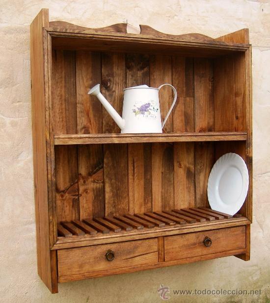 Muebles para cocina en madera rusticos for Muebles cocina rusticos