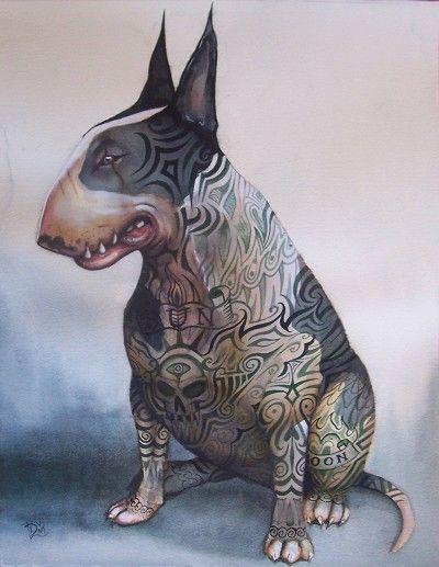 - English bull terriers
