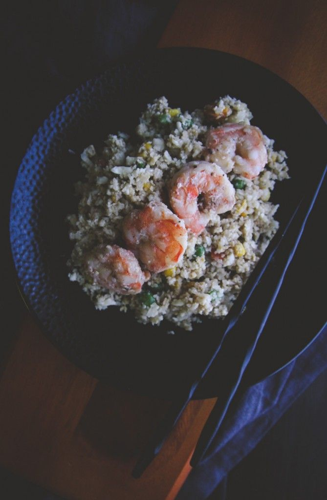 The Best Shrimp Cauliflower Fried Rice