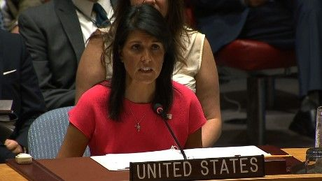 A UN Security Council resolution has passed imposing a new level of fresh sanctions on North Korea for their continued ballistic missile testing and violations of prior UN resolutions. US Ambassador to the UN Nikki Haley spoke upon entering the Security Council meeting where the vote took place. CNN's Ana Cabrera has more.