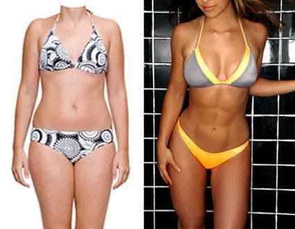 Both of these women weigh 125 lbs. Lean muscle just looks better.