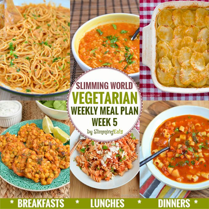Slimming Eats Vegetarian Weekly Meal Plan - Week 5 - Slimming World recipes - taking the work out of planning, so that you can just cook and enjoy the food.