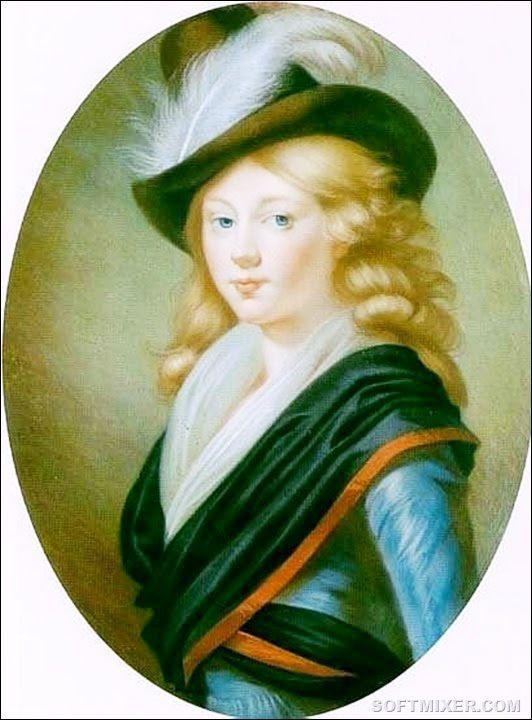 Портрет принцессы Луизы-Августы Баденской в юности. Неизвестный художник.