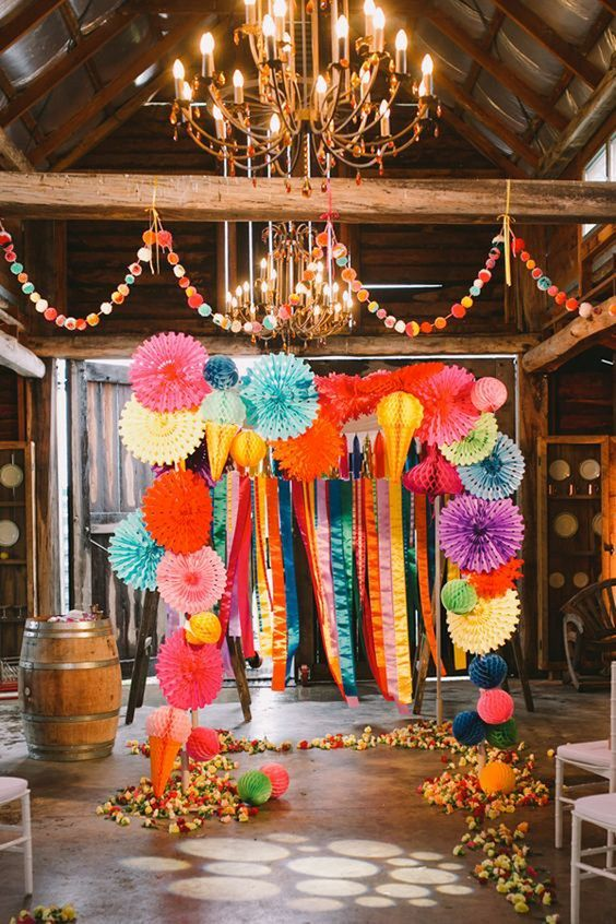 fiesta themed wedding backdrops and details / http://www.himisspuff.com/colorful-mexican-festive-wedding-ideas/6/