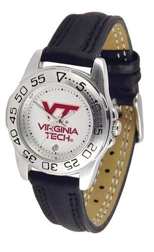 Virginia Tech VT Hokies Women's Leather Band Athletic Watch