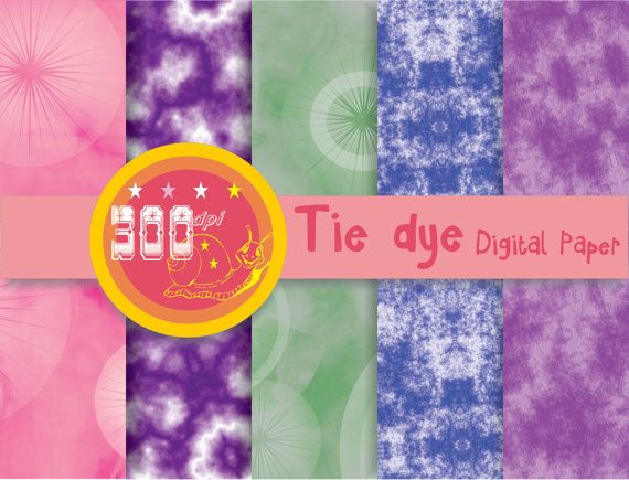 Dip dye digital paper tie dye fabric digital paper by GemmedSnail, $2.00