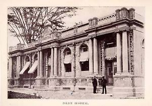 1897-Halftone-Print-Police-Hospital-Port-Spain-Trinidad-Tobago-Historic-XGQA9