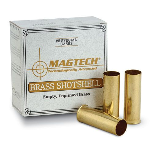 "Magtech 36 Gauge (.410"") 2-1/2"" Shotshell Reloading Brass Large Primer Pocket (Box of 25)"