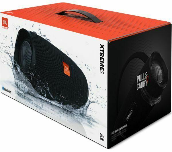 Black JBL XTREME Portable Bluetooth Wireless Waterproof Speaker