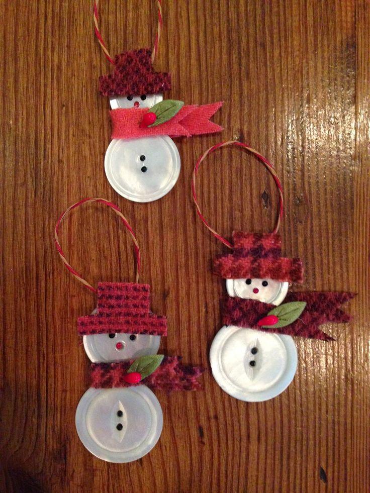Knitionary: button snowmen, a tutorial More