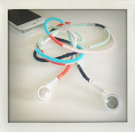 DIY earphones.