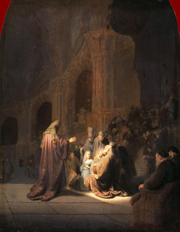 Rembrandt: Simeon's Song of Praise.  Currently at the De Young Museum.  A private moment in a public space, this painting is masterful in its staging and narrative story telling.  I love all the faces, from Simeon's rapture, to the look of jealous incredulity on the stranger's faces, to even the face of the baby Jesus with his prescient self-knowledge.