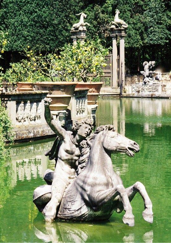 Perseus On Horseback Isolotto Pond Boboli Gardens