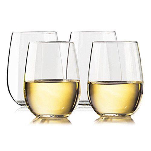 Unbreakable Stemless Wine Glasses | 100% Tritan Shatterproof Plastic Wine Glass | Dishwasher safe | Smooth Rims | Set of 4 | 16oz | by TaZa - NEVER BREAK A GLASS AGAIN! With Taza drama-free unbreakable wine glasses you can entertain in style, without the worries. TaZa unbreakable wine glasses are known for their brilliant clarity-such clarity that makes them easily mistaken as crystal. Unlike crystal, however, these glasses won't crack...