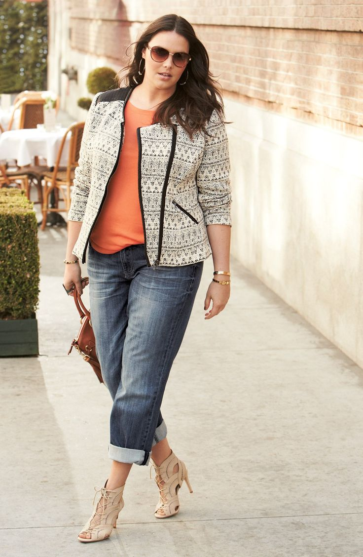 Sejour Jacket, Tee & KUT from the Kloth 'Catherine' Jeans | Nordstrom