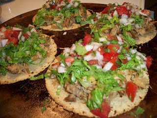 Pulled Pork Tostadas - Chef Tom Heintz  Whole wheat/Corn tortillas, pulled pork, non-fat cheese, shredded lettuce, spicy salsa!: Creative Cooking, Clean Eating, Maine Dishes, Food Ideas, Pork, Dinners Ideas, Wheat Corn Tortillas, Non Fat Cheese, Chef Toms