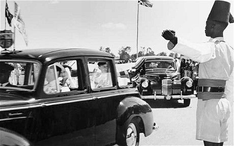 The moment that Princess Elizabeth became Queen:  Seen here, Princess Elizabeth and the Duke of Edinburgh arrive in Keyna 1952 does the royal wave. It would be doing this trip in 1952 In 1952, when Elizabeth and Philip were on an official trip to Kenya, news came of her father's death. She was now queen.