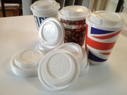 Printed Paper Cups UK - 80mm for 8oz and 90mm for 12oz/16oz Sip Through Lids