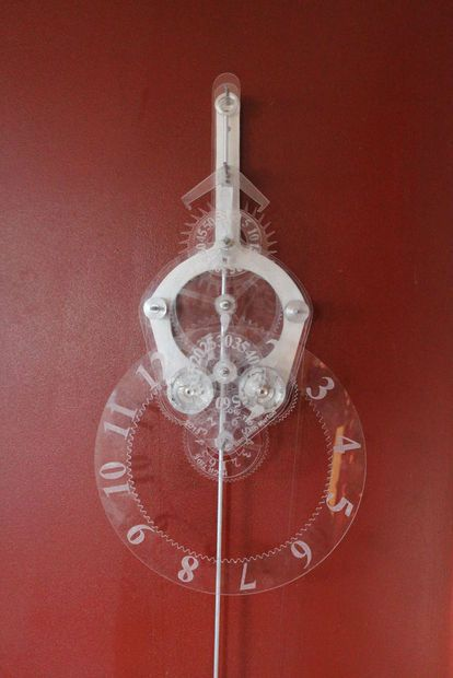 Acrylic Skeleton Clock #pendulum #mechanical #CAD