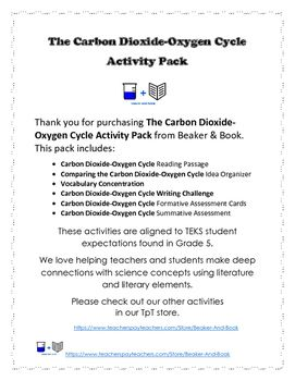 The+Carbon+Dioxide-Oxygen+Cycle+Activity+Pack+from+Beaker+&+Book+integrates+literacy+skills+with+science+content+to+help+students+understand+the+processes+that+provide+organisms+with+some+of+their+basic+needs.This+pack+includes:Carbon+Dioxide-Oxygen+Cycle+Reading+PassageComparing+the+Carbon+Dioxide-Oxygen+Cycle+Idea+OrganizerVocabulary+ConcentrationCarbon+Dioxide-Oxygen+Cycle+Writing+ChallengeCarbon+Dioxide-Oxygen+Cycle+Formative+Assessment+CardsCarbon+Dioxide-Oxygen+Cycle+Summative+Asse...