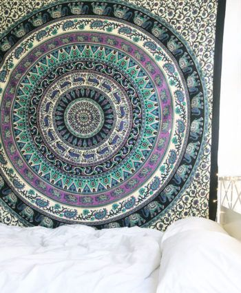 Tapestries are great idea to instant makeover to any room and remove dull ambiance and give revive look to the home interior. We've reached with distinctive, very reasonably priced assortment of attractive celestial sun & stars featuring light weighted cotton tapestry wall hanging which fits with any kind of budget, each beautifully constructed from 100% fine cotton in India. The tapestry is finished with bordered edges. It is cool cotton fabric tapestry wall hanging which adorns any...